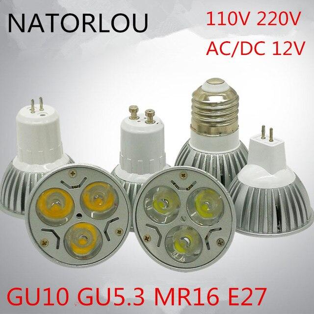 Led lamp 3w GU10 GU5.3 E27 die-casting lamp cup MR16 pin 12v white light warm white natural white indoor light source