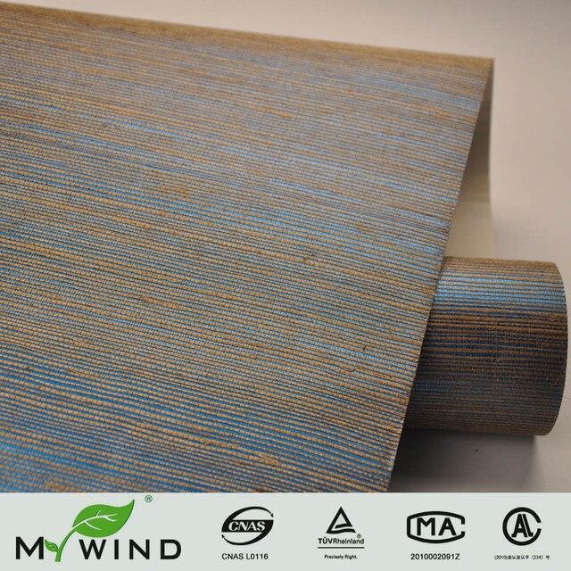 Bleu Gliiter Sisal Papier Peint De Luxe Design DIntrieur Matriaux