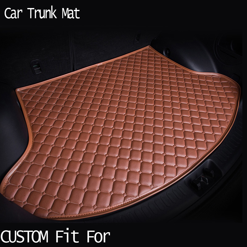 car ACCESSORIES Custom fit car trunk mat for honda Accord Civic CRV City HRV Vezel Crosstour heavy duty tray carpet cargo liner for honda crv cr v 2017 2018 auto trunk liner rear cargo boot mat 3d floor tray carpet mud pad waterproof protector car styling