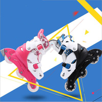 Children Adjustable Roller Skates with Cotton Fabric suitable for children skates shoes with breathable fabric material