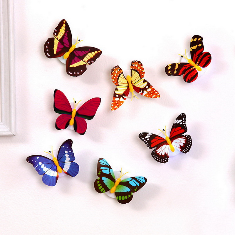 Image 4 - 3D Butterfly night light for children baby Kid Suction Pad Colorful Chang Butterfly LED Night Light Lamp Wedding Party Decor-in Night Lights from Lights & Lighting