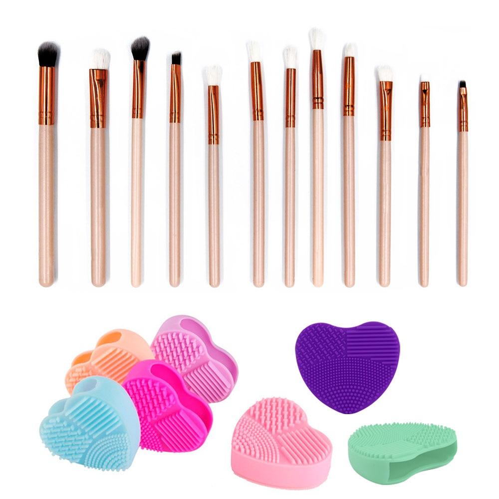 12pcs Eye Makeup Brushes Set Eyeshadow Blending Brush Powder Foundation Eye Shadowing Eyeliner Cosmetic Tool With free Brushegg 12pcs eye makeup brushes set eyeshadow