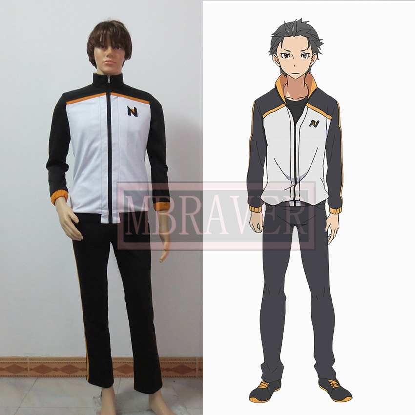 Re: Life a Different World from Zero Natsuki Subaru Uniform Cosplay Costume Sportswear
