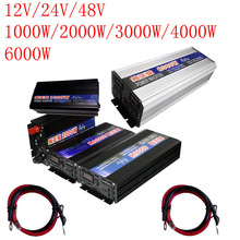 High Quality 12 v 6000W Pure Sine Wave Power Inverter Car Auto 6kw Power Inverter For Boat House Bazaar Pure Sine Wave With цена и фото