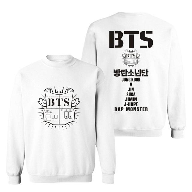 BTS ARMY Logo Sweater Sweatshirt Pullover Longsleeve Crewneck