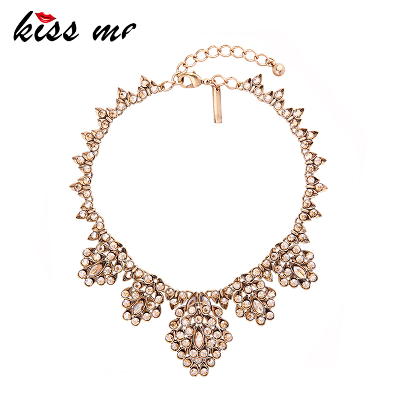 KISS ME Unique Party Geometric Champagne Glass Crystal Choker Necklace 2017 New Statement Necklace Fashion Jewelry quality black automatic voltage regulator avr sx460 for generator free shipping