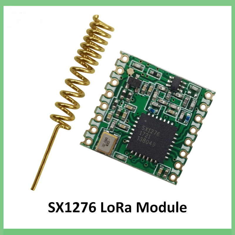 50 pcs 868 MHz super faible puissance RF LoRa module SX1276 puce récepteur de communication longue Distance et émetteur SPI IOT + antenne