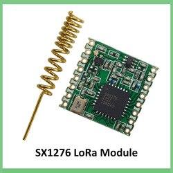 868 mhz super baixa potência rf lora módulo sx1276 chip de longa distância comunicação receptor e transmissor spi iot + antena