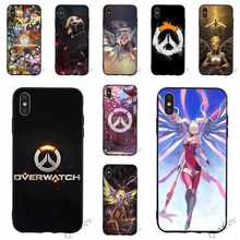 Ốp Silicon Overwatch Mercy Điện Thoại Cho iPhone 6S 8 XR X 7 Plus 6 5 5S SE XS Max 11 Pro Silicone Da(China)