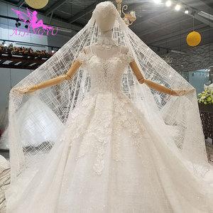 Image 2 - AIJINGYU vestido de boda tul Suiza Medieval fiesta bola tamaño Plus hermoso compromiso Sexy vestidos de novia simples