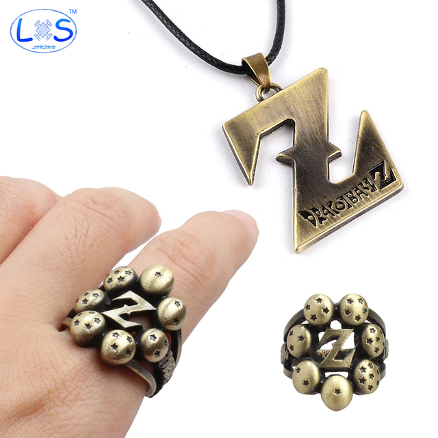 Dragon Ball Vintage Pendant Necklace And Ring