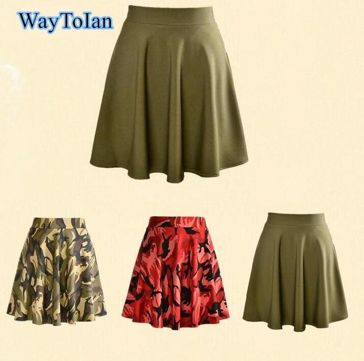 a6ca0c803 WayToIan 2018 Hot Fashion Skirts Plus Size Sexy Women's Summer Pink  camouflage Skirts 3D Digital Printing Skirts Plus size