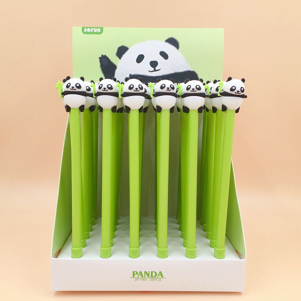 1pcs Lovely Panda Gel Pen Signature Pen Escolar Papelaria School Office Supply Promotional Gift