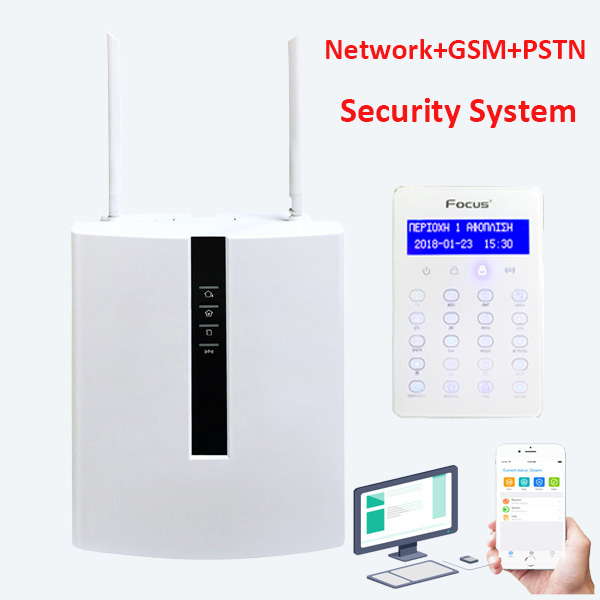 Focus FC-7688Plus ABS Anti-fire Plastic Box Security System 96 Wire Zones GSM Landline LAN Port Network Web Security Alarm