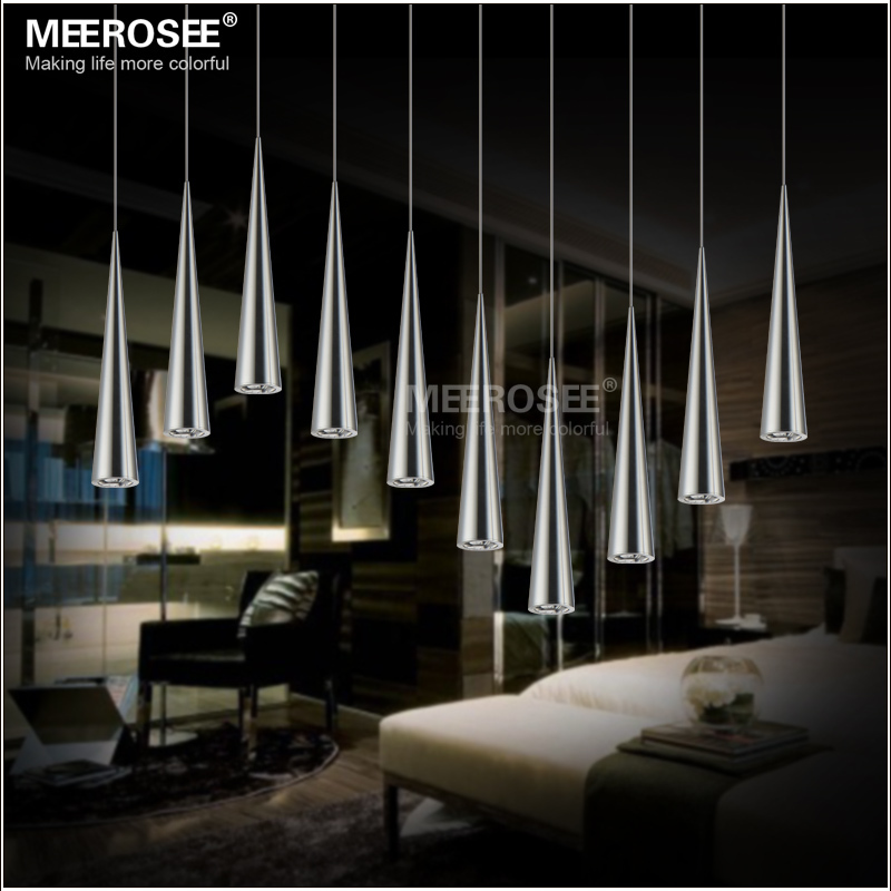 DIY LED Pendant Light Fitting Modern LED Pendant Lustre Silver Suspension Light Stair Lamp Dining Lamp