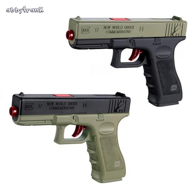 Abbyfrank Plastic Water Bullets Toys Gun Soft Pistol Safe Manual Operated Gun 18m Gunshot Range Kid