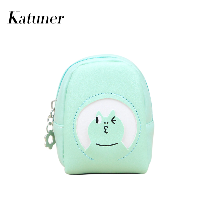 Katuner 2017 New Cartoon Women Coin Purse Keychain Wallet For Girls Cute Animal Kids Children Zipper Coin Pouch KB063