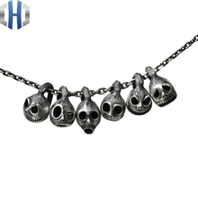 Original Design Handmade Silver Personality Jack Necklace Pendant 925 Pumpkin Prince
