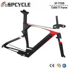 Spcycle Aero T1000 Carbon TimeTrial Triathlon Bike Frame 700C Ultralight Carbon TT Bicycle Frameset BB86 Size
