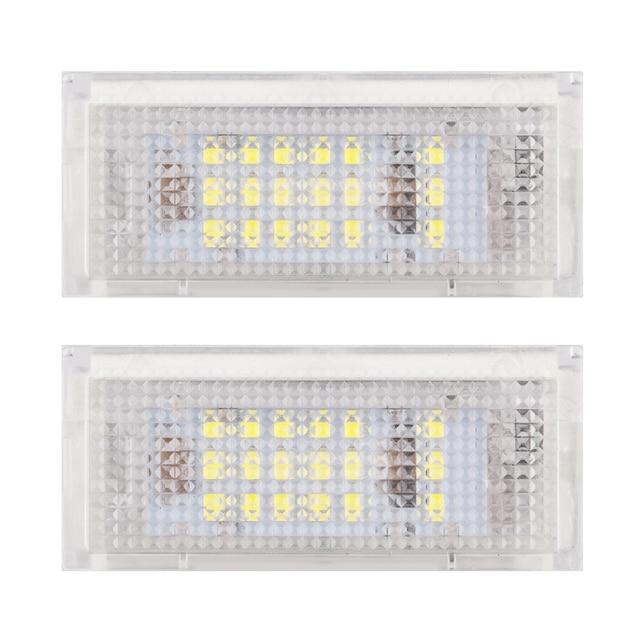 2Pcs White 3528 Led License Plate Lights For BMW E46 4D 323i 325i 328i  6000k 12V Number Plate Lamp Bulb