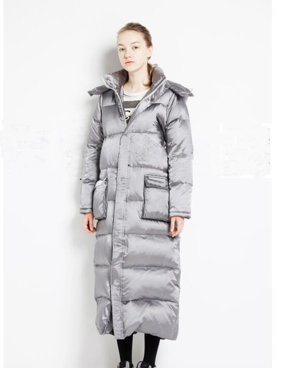 Manteau De Patchwork Femmes D'hiver Duvet Doudoune Style Conception Ample TkZiPXuO