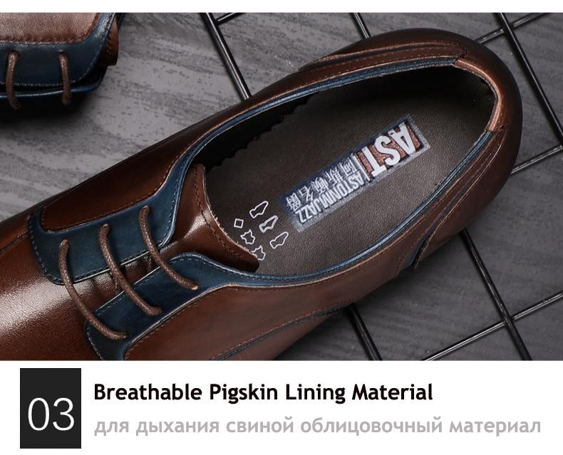 Men's Casual Shoe Business Mens Genuine Leather Shoes Men Big Size 45 Casual Leather Oxford Shoes For Men Lace Up Brogues Formal (9)