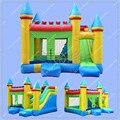 Горячие Продажи Надувные Combo Отказов Дом Надувной Замок Moonwalk с Надувной Горкой, Свободно Воздуходувка Включены