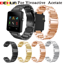 BEHUA Smart Watch Straps Stainless Steel Bracelet Watch Band Wrist Strap For Garmin Vivoactive Acetate Watchbands Correa Reloj все цены