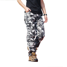 Winter Fleece Warm Cargo Pants Men Casual Loose Multi-pocket Trousers Camo Military Army Track Tactical Male Clothing