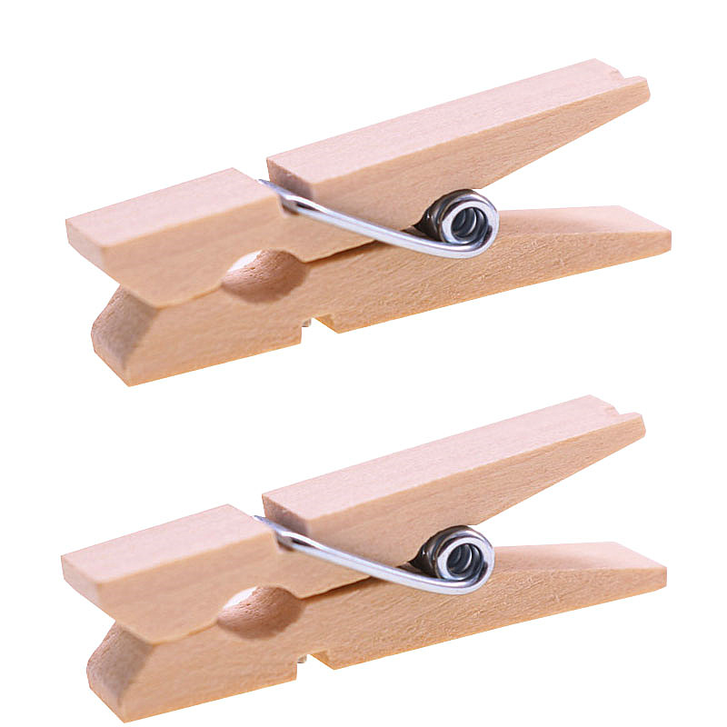 50 Pcs Wood Clip Spring Clips Length 3.5cm Office Binding Equipment Student Stationery Wholesale Strong Quality Large Inventory