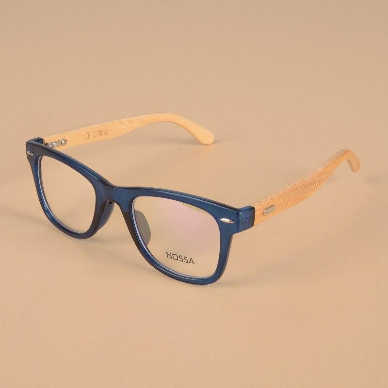 Horký výprodej Bambus Classic Vintage Point Brames Frames Ženy a muži Ručně vyráběné dřevěné brýle Osobnost Myopia Optický rám