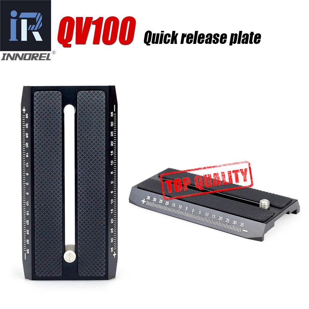 QV100 Deslizante monopé Prato de Liberação Rápida Para tripé de vídeo Compatível com Manfrotto 501PL tecnologia de alta precisão Todas As peças do CNC