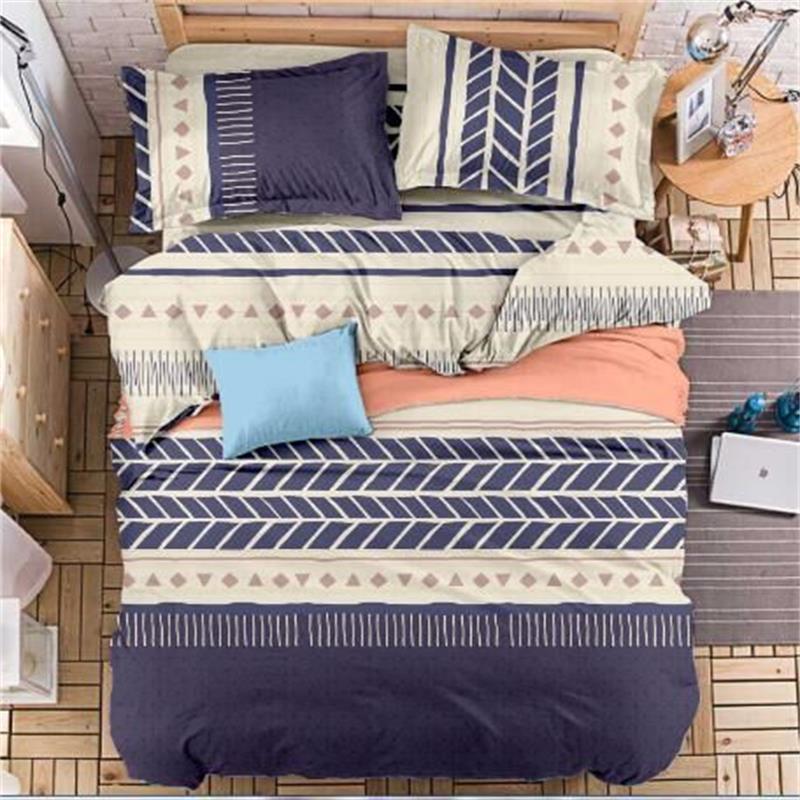 Diseño de moda textil para el hogar 4 Unids/lote Behd Juegos de Cama de algodón