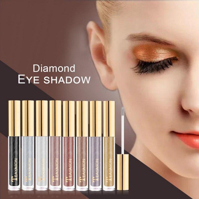 New Brand Shiny Diamond Liquid Water Eye Shadow Pearlescent High Gloss Powder Long-lasting Shine Eye Shadow Liquid Cosmetics Eye Shadow