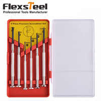 Flexsteel 6pcs Multifunction Precision Screwdriver Set with Slotted Phillips Bits for Watch Glasses Screw driver Repair Tool Set