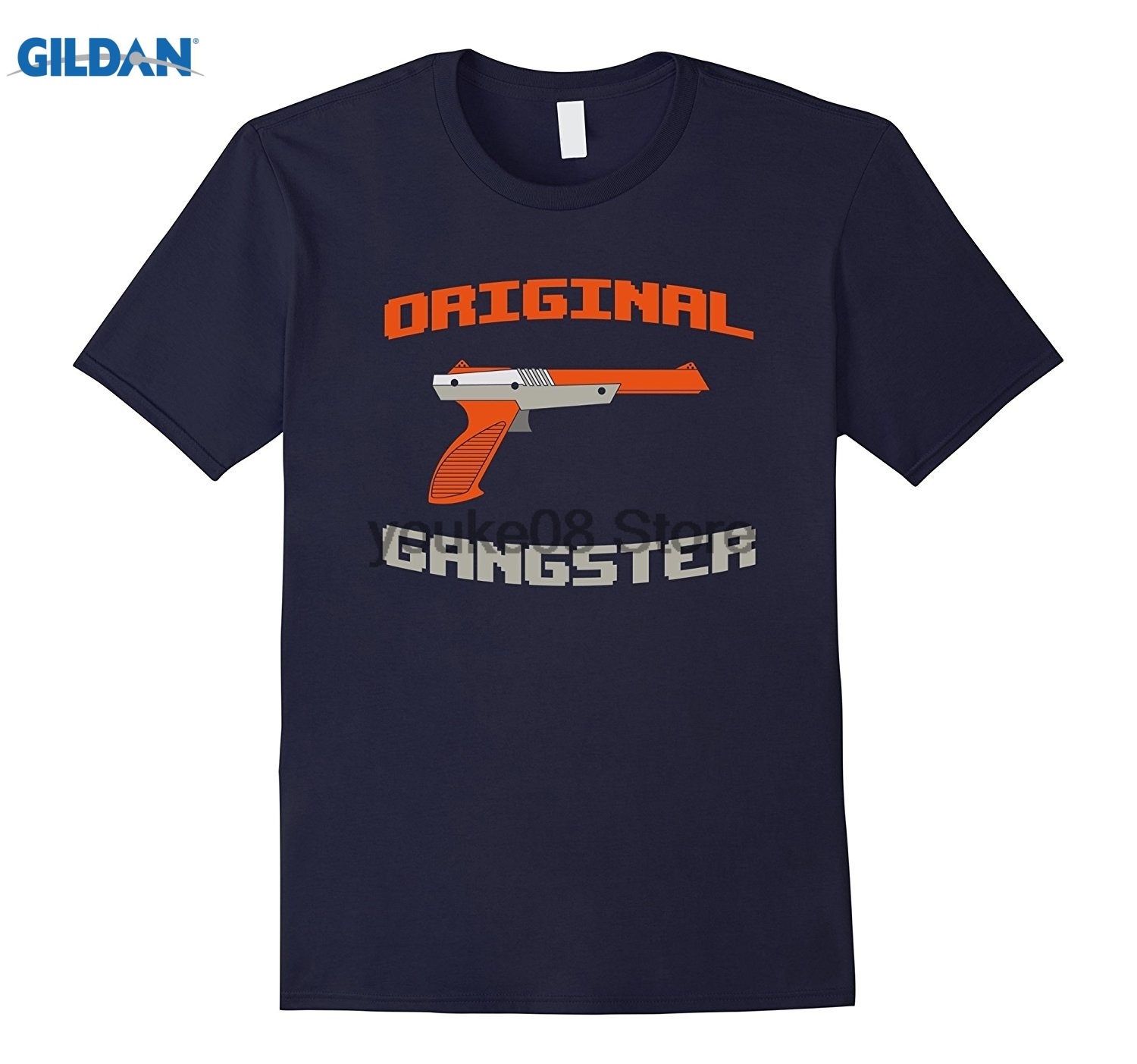 GILDAN 100% Cotton O-neck printed T-shirt Original Gangster Funny 80s Video Game System T Shirt