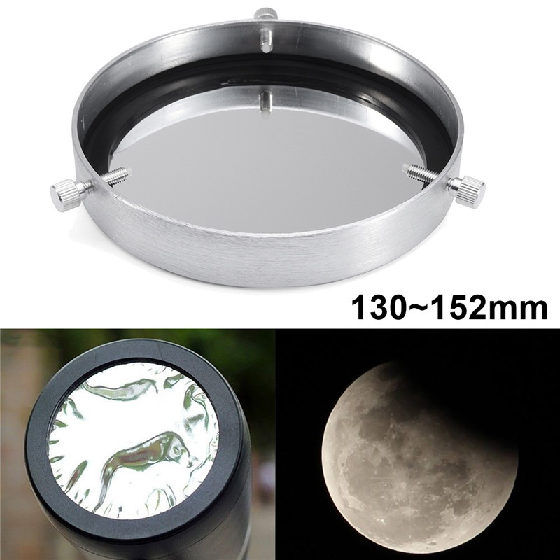 New Arrival 1Pcs Aluminum Alloy Silver Solar Filter Baader Film Metal Cover For 130~152 mm Astronomical Telescope Objective Lens