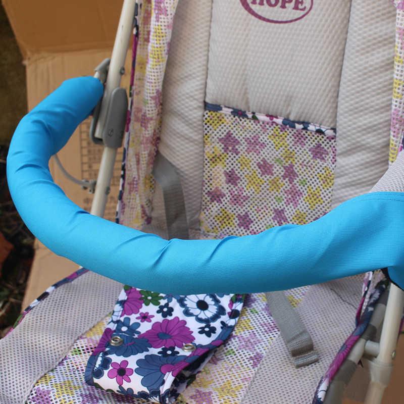 1Pcs Soft Pram ทั่วไปพนักพิงกันชนบาร์ทารก Buggy รถกรณีผ้าล้างทำความสะอาดได้รถเข็นเด็กทารกอุปกรณ์เสริม