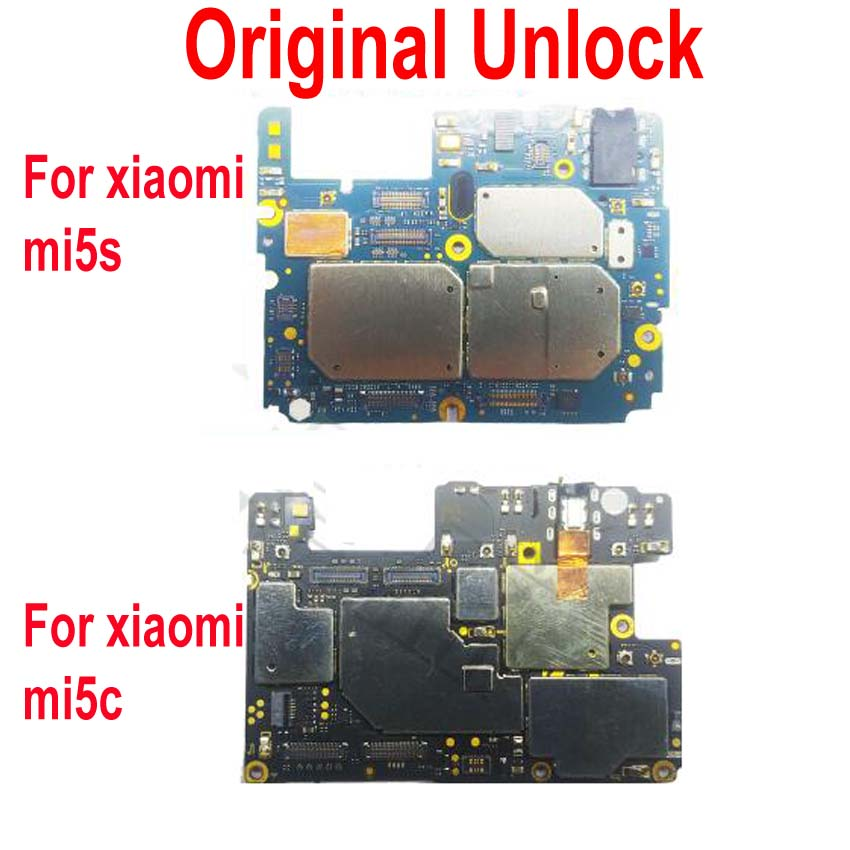 Global Firmware Original Unlock Mainboard For <font><b>Xiaomi</b></font> 5S Mi 5S <font><b>Mi5S</b></font> M5S 5C MI5C Motherboard Circuits Fee Flex Cable Accessory set image