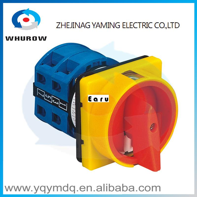 Factory Supplied YMW26-25/2GS High quality manual changeover switch rotary switch cam switch DC voltage sliver contacts 660v ui 10a ith 8 terminals rotary cam universal changeover combination switch