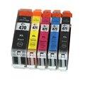 5X Compatible Inkjet Cartridge For Canon PGI-470 CLI-471 PIXMA MG5740/MG6840 Printer Ink Cartridge