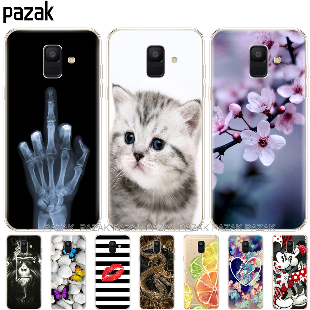 Silicon Phone Case For Samsung Galaxy A6 2018 Dual SIM SM A600 A600F Soft Tpu Back Cover For Samsung A6 Plus 2018 A605 A605F new smael 1708b