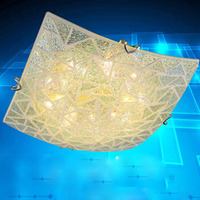 Mediterranean Sea Style Lozenge Glass Ceiling Lamp SMD 3 Led Color Country Style Shell Ceiling Light