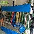Personalizado cerca de 1.9 M de largura filme Transparente Vento e Água-resistente Toldos/Estufa/Cerca Ao Ar Livre Pano para barracas de comida