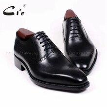 CIE квадратный носок вырезы Обувь шнурованная для женщин Шнуровкой Сплошной Черный натуральной телячьей кожи дышащие заказ мужские туфли ручной работы на заказ ox380