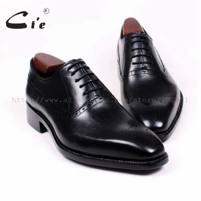 cie Square Toe Cut-outs Oxfords Lacing Solid Black 100%Genuine Calf Leather Breathable Bespoke Men Shoe Handmade Custom OX380 обучающие плакаты алфея плакат мебель