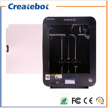 New Metal Structure Createbot Mini 3D Printer,High Quality Precision 3d Printer Kit With 2 Rolls Filament 8G SD Card