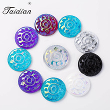 Flat Back Turtle Sew On Rhinestones Cabochon For Native American Beadwork Jewelry Making with 2 holes 25mm 100pcs/lot