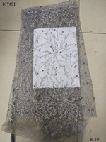 New Style French Net Lace Fabric Cotton Applique Lace Fabric African Tulle Mesh Lace Fabric High