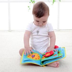 Детские игрушки 0-12 месяцев развитие интеллекта Ткань Книга Мягкие погремушки разворачивание деятельности книги милые детские игрушки 6 ст...